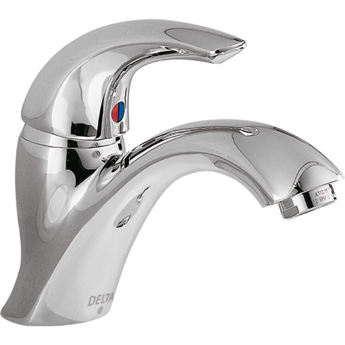 Delta Commercial 22c601 22t Single Handle Single Hole Lavatory Faucet Less Pop Up Chrome