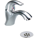 Delta Commercial 22C901 - Single hole commercial lavatory faucet with grid strainer drain assembly.