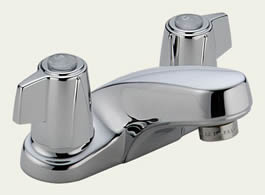 Delta Classic: Two Handle Centerset Lavatory Faucet - Less Pop-Up - 2500LF