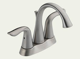 Delta Lahara: Two Handle Centerset Lavatory Faucet - 2538LF-SS