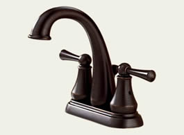 Delta Lewiston: Two Handle Centerset Lavatory Faucet - 25901LF-RB