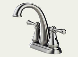 Delta Lewiston: Two Handle Centerset Lavatory Faucet - 25901LF-SS