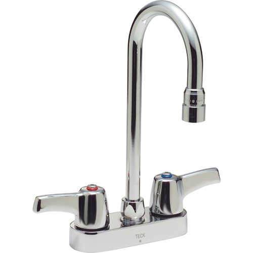 Delta Commercial 27c4943 27t Two Handle 4 Deck Mount Faucet Chrome
