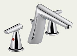 Delta Rizu: Two Handle Widespread Lavatory Faucet - 3582LF-MPU