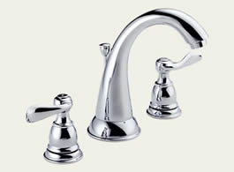 Delta Foundations Windemere: Two Handle Widespread Lavatory Faucet - 35996LF