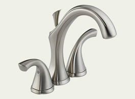 Delta Addison: Two Handle Mini-Widespread Lavatory Faucet - 4592-SS