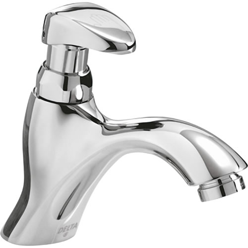 Delta Commercial 87t111 87t Single Hole Metering Slow Close Lavatory Faucet Chrome