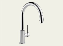Delta 9159-DST - Trinsic Pull Down Kitchen Faucet, Polished Chrome