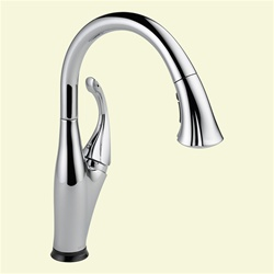 Delta 9192T-DST Addison: Single Handle Pull-Down Kitchen Faucet With Touch2O Technology, Chrome