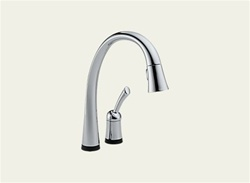 Delta Pilar: Single Handle Pull-Down Kitchen Faucet With Touch2O Technology - 980T-DST