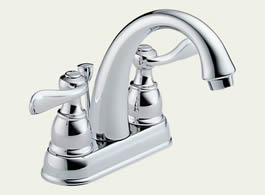 Delta B2596LF Foundations: Two Handle Centerset Lavatory Faucet, Chrome