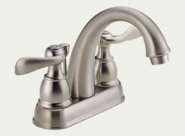 Delta Foundations Windemere: Two Handle Centerset Lavatory Faucet - B2596LF-SS