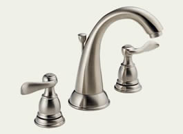 Delta Foundations Windemere: Two Handle Widespread Lavatory Faucet - B3596LF-SS