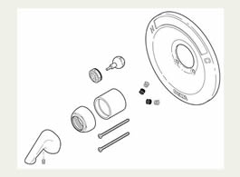 Delta: Renovation Kit - 600 Series Tub And Shower - RP54870