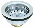 Eastman 30002 Brass Body Duo Basket Strainer Assembly, Fits sink with 3-1 / 2 inch - 4 inch opening