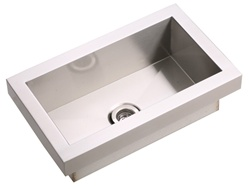 Elkay - EFL2012 - Asana Top Mount Stainless Steel Sink, Bathroom and Lavatory Sink