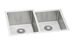 Elkay - EFRU3120 - Avado Double Bowl Undermount Sink, 2 Bowls, Stainless Steel - 16 Gauge - 8-inch Depth