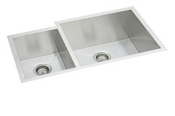 Elkay - EFU352010L - Avado Double Bowl Undermount Sink, 2 Bowls, Stainless Steel - 16 Gauge - 10-inch Depth
