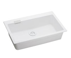 Elkay - ELGS3019WH0 - E-Granite Universal Mounted Sink, White