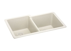 Elkay - ELGU250RBQ0 - E-Granite Undermounted Mounted Double Bowl Sink, Bisque
