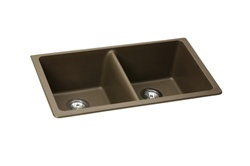 Elkay - ELGU3322MC0 - E-Granite Undermounted Double Bowl Sink, Mocha