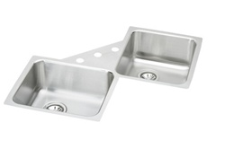 Elkay - ELUH3232 - Gourmet (Elumina) Double Bowl 18 Gauge Stainless Steel Sink with Soft Satin Finish