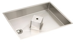 Elkay - ISLAND3828 - Avado Island Undermount Sink, Stainless Steel - 1 Bowl, 14 Gauge - 7-1/2-inch Depth