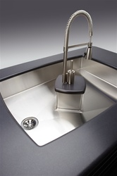 Elkay - ISLAND3828C - Copmlete Avado Island Undermount Sink, Stainless Steel - 1 Bowl, 14 Gauge - 7-1/2-inch Depth
