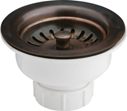 Elkay LK35AC - Kitchen Sink Basket Strainer Drain Fitting, Antique Copper Finish