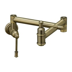 Elkay - LK4101AB - Oldare Wall Mounted Pot Filler Faucet - Antique Brass