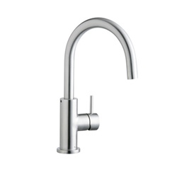 Elkay - LK7921SSS - Allure Single Hole Mounted Stainless Kitchen Faucet