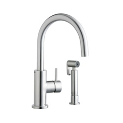 Elkay - LK7922SSS - Allure Stainless Kitchen Faucet with Side Spray