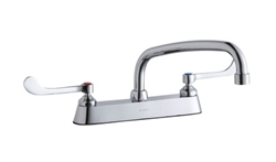 Elkay LK810AT10T6 - 8-inch Center Deck Mount Faucet with long wing handles and 10-inch swing spout