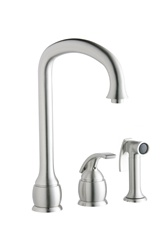 Elkay - LK9402NK - Single Lever Kitchen Faucet with Side Spray - Brushed Nickel