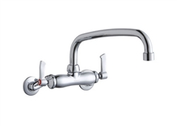 Elkay LK945AT10L2T - Adjustable Wall Mounted Commercial Faucet with 10-inch Spout