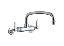 Elkay LK945AT12L2T - Adjustable Wall Mount Commercial Faucet with 12-inch Spout