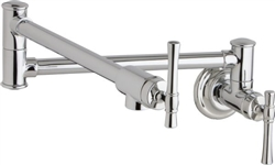 Elkay LKEC2091PN - Explore Wall Mount Pot Filler, Polished Nickel