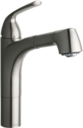 Elkay LKGT1041NK - Gourmet Single Handle Pull Out Spray Kitchen Faucet, Brushed Nickel
