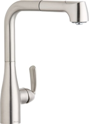 Elkay LKGT2041NK - Gourmet Single Lever Pull-Out Spray Kitchen Faucet, Brushed Nickel