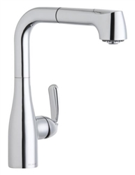 Elkay LKLFGT2042CR - Gourmet Low Flow Pull Out Spray Faucet, Polished Chrome