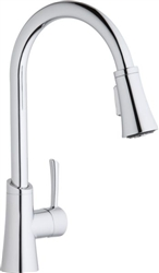 Elkay LKGT3031CR - Gourmet Single Handle Pull-Down Kitchen Faucet, Polished Chrome
