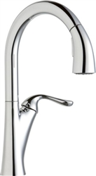 Elkay LKHA4031CR - Harmony Single Handle Pull-Down Kitchen Faucet, Polished Chrome