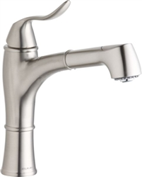 Elkay LKLFEC1041NK- Explore Low Flow Single Handle Pull Out Spray Kitchen Faucet, Brushed Nickel