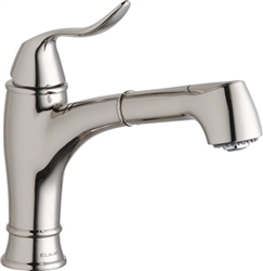 Elkay LKLFEC1042PN - Explore Low Flow Single Handle Pull Out Spray Faucet, Polished Nickel