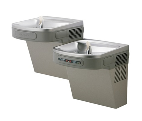 Elkay lzostl8c bi level ada hands free wall mount coolers for Water fountain filtration system