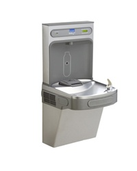 Elkay LZS8WSLK - Complete filtered cooler and bottle filling station in a consolidated space saving ADA compliant design.