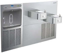 Elkay LZWS-SS28K - Filtered EZH2O® Bottle Filling Station with SoftSides® Bi-Level Refrigerated Fountain