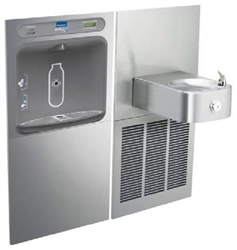 Elkay LZWS-SS8K - Filtered EZH2O® Bottle Filling Station with SoftSides® Single Refrigerated Fountain