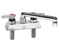 Encore (CHG) KL41-4006-TE1 - Encore® Workboard Faucet, Deck Mount, 4-inch (102mm) OC inlets, 6-inch (152mm) Swivel Cast Spout, 1/4-turn full volume compression valves, lever handles, 2.2gpm aerated stream aerator, NSF, low lead compliant