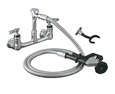 Encore (CHG) KL53-2100-VB - Encore®  Utility Spray Assembly, Wall Mount, 8-inch OC, 72-inch stainless steel flexible hose, vacuum breaker, 1/4-turn full volume ceramic valve, lever handle, wall hook, angled spray valve